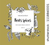 spices square frame design....   Shutterstock .eps vector #1118860331