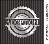 adoption silvery shiny emblem | Shutterstock .eps vector #1118860901