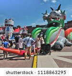 an inflatable dragon.  lodz ... | Shutterstock . vector #1118863295