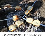 cooking food in nature. | Shutterstock . vector #1118866199