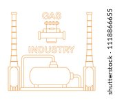 gas processing plant. gas... | Shutterstock .eps vector #1118866655