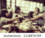 family time  have dinner... | Shutterstock . vector #1118876789