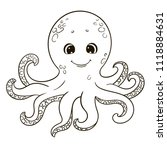 cute cartoon octopus for... | Shutterstock .eps vector #1118884631