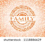 family abstract orange mosaic... | Shutterstock .eps vector #1118886629