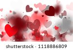 red hearts falling on white... | Shutterstock .eps vector #1118886809