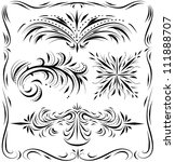 decorative line work and... | Shutterstock .eps vector #111888707