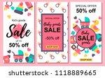 set of baby goods sale designs. ... | Shutterstock .eps vector #1118889665