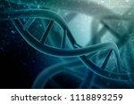 3d render of dna structure ... | Shutterstock . vector #1118893259