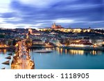 A View Of The Prague Castle In...