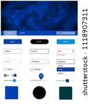light blue vector ui ux kit...