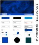 light blue vector ui ux kit...