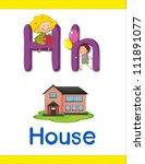 illustrated alphabet letter and ... | Shutterstock .eps vector #111891077