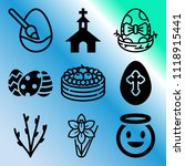 vector icon set  about easter... | Shutterstock .eps vector #1118915441