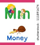 Illustrated Alphabet Letter An...