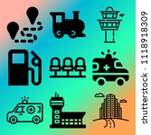 vector icon set  about... | Shutterstock .eps vector #1118918309