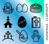 vector icon set  about easter... | Shutterstock .eps vector #1118920379