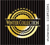 winter collection gold shiny... | Shutterstock .eps vector #1118922041