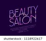 vector beauty salon elegant...   Shutterstock .eps vector #1118922617