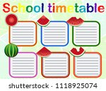 school timetable  a weekly... | Shutterstock .eps vector #1118925074