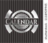calendar silver emblem or badge | Shutterstock .eps vector #1118939945