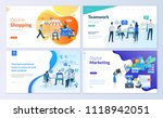 set of web page design... | Shutterstock .eps vector #1118942051