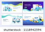 set of web page design... | Shutterstock .eps vector #1118942594