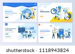 set of web page design... | Shutterstock .eps vector #1118943824