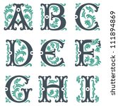 vector set of letters in the... | Shutterstock .eps vector #111894869