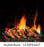 delicious pieces of chicken... | Shutterstock . vector #1118951627