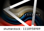 rainbow fluid colors wave and... | Shutterstock .eps vector #1118958989