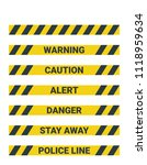 seamless yellow warning pattern | Shutterstock .eps vector #1118959634