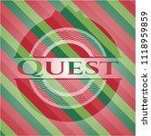 quest christmas colors emblem. | Shutterstock .eps vector #1118959859