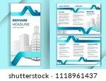 business brochure template in... | Shutterstock .eps vector #1118961437