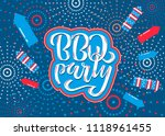 july 4th bbq party lettering... | Shutterstock .eps vector #1118961455