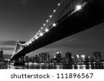 manhattan bridge and skyline at ... | Shutterstock . vector #111896567