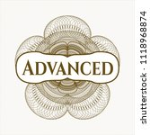 brown passport style rossete... | Shutterstock .eps vector #1118968874