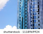 high rise building construction | Shutterstock . vector #1118969924