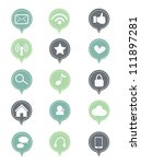 set of social media icon | Shutterstock .eps vector #111897281