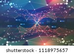 global network. blockchain 3d... | Shutterstock . vector #1118975657