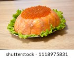 caviar with red fish   seed or... | Shutterstock . vector #1118975831