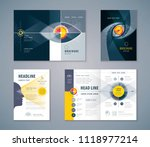 cover book design set  abstract ... | Shutterstock .eps vector #1118977214