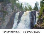 high falls of tettegouche state ... | Shutterstock . vector #1119001607