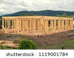 wooden construction of an... | Shutterstock . vector #1119001784