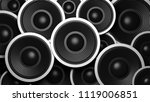 music concept. multiple various ... | Shutterstock . vector #1119006851
