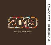 happy new year 2019 text design ... | Shutterstock .eps vector #1119009431