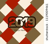 happy new year 2019 text design ... | Shutterstock .eps vector #1119009461