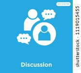 discussion vector icon isolated ... | Shutterstock .eps vector #1119015455