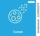 comet vector icon isolated on... | Shutterstock .eps vector #1119020279