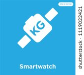 smartwatch vector icon isolated ... | Shutterstock .eps vector #1119022421