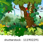 vector illustration jungle with ... | Shutterstock .eps vector #111902291